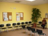 Sala de espera del centro de salud