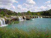 Perspectiva de las cascadas. Lagunas de Ruidera