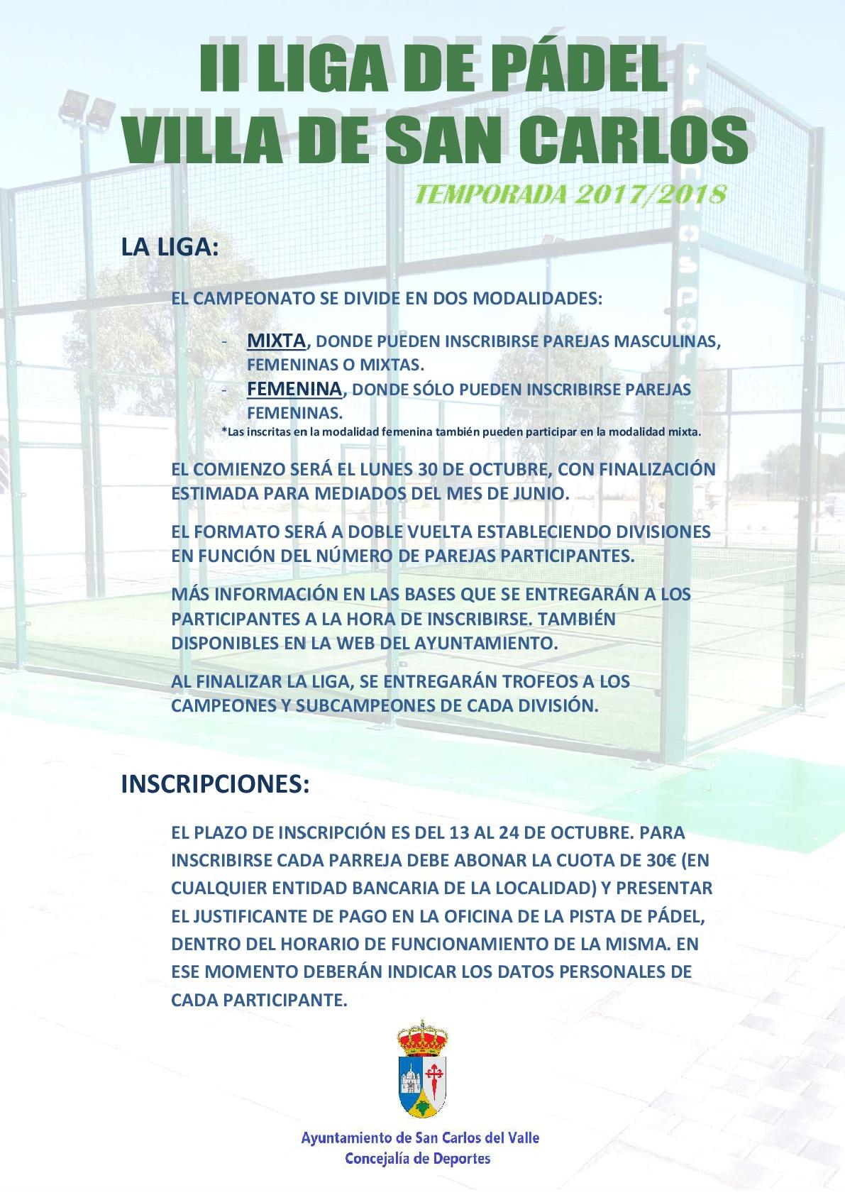 II Liga de Pádel Villa de San Carlos cee0576cbe04d
