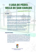 I LIGA DE PÁDEL VILLA DE SAN CARLOS