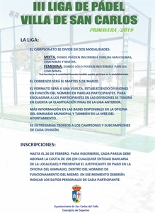 III LIGA DE PÁDEL PRIMAVERA /19